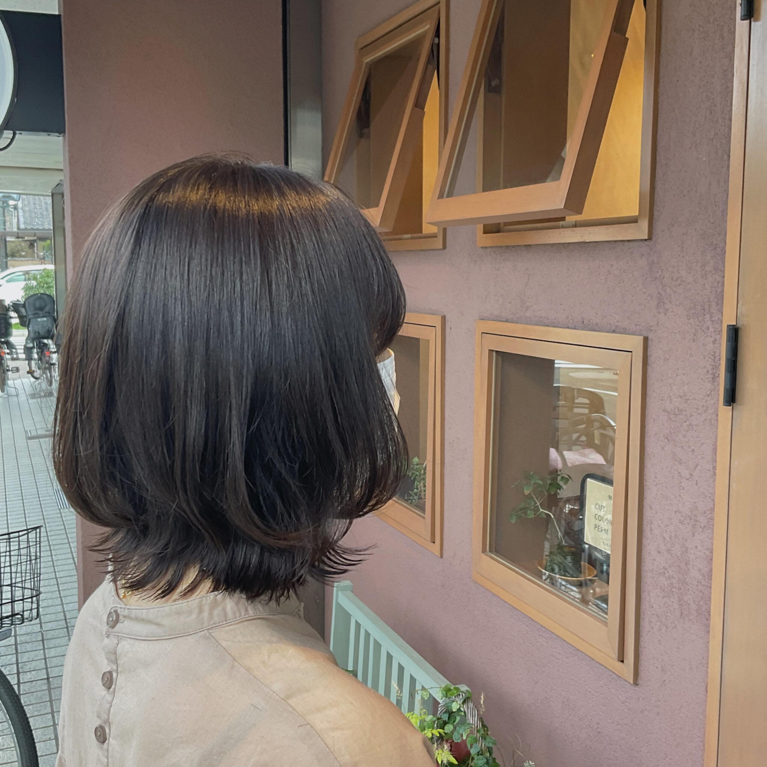 お客様スタイル ボブレイヤー〜hair+malun ヘアプラスマルン 土呂美容室〜